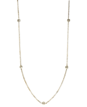 """Trio by Effy Collection Diamond Necklace, 14k Gold Diamond Seven Station Necklace 24"""" (5/8 ct. t.w.)"""