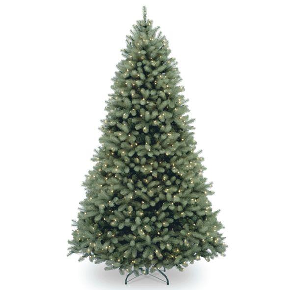 National Tree Company National Tree 6 .5' Feel Real Downswept Douglas Blue Fir Hinged Tree with 650 Clear Lights