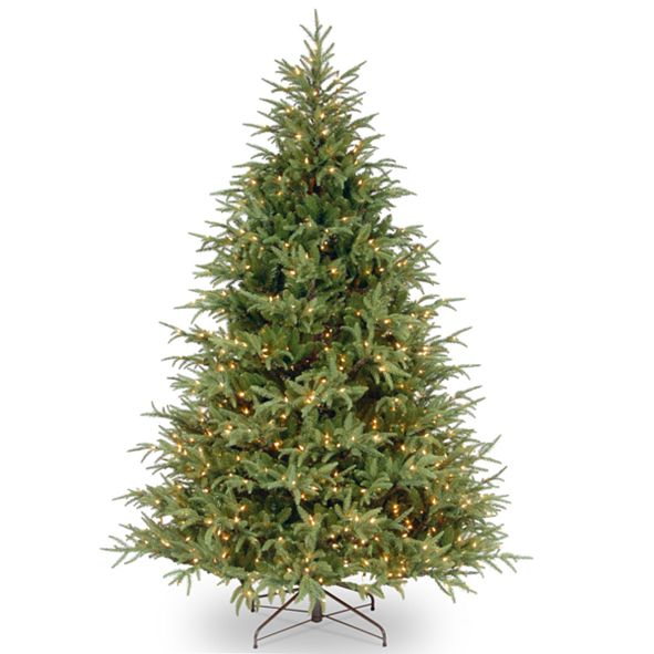 National Tree Company National Tree 7' Feel Real Frasier Grande Hinged Tree with 800 Dual Color  LED Lights