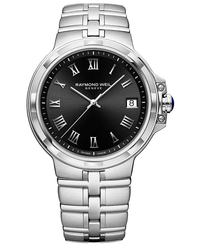 Raymond Weil - Men's Swiss Parsifal Stainless Steel Bracelet Watch 41mm