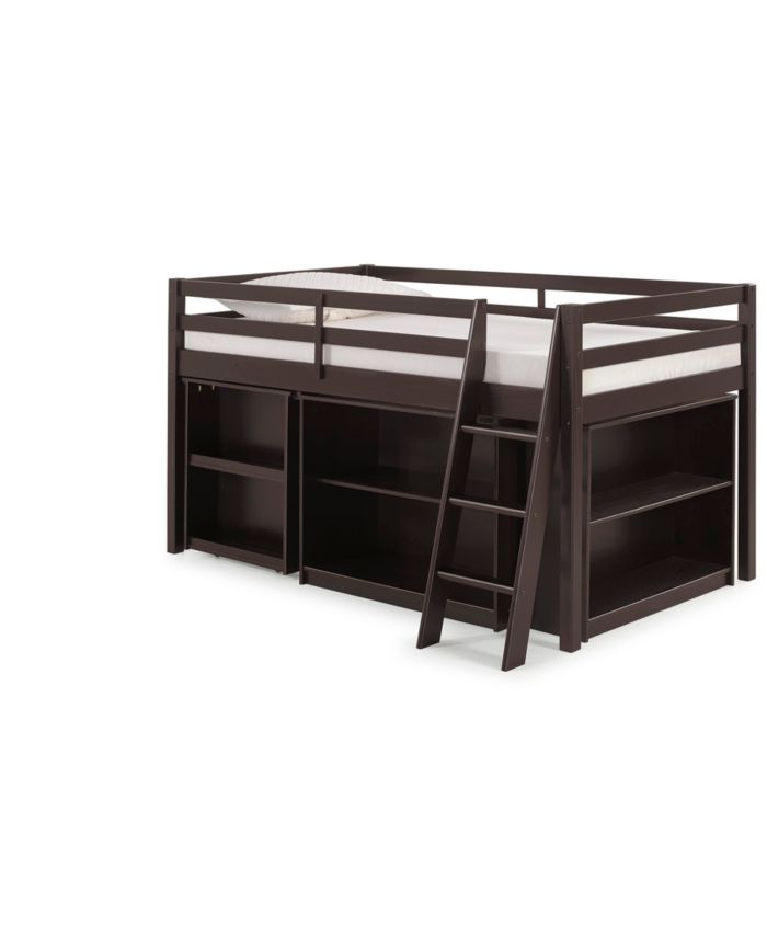 Bolton Furniture Roxy Junior Loft Bed with Storage Drawers, Bookshelf and Desk & Reviews - Furniture - Macy's