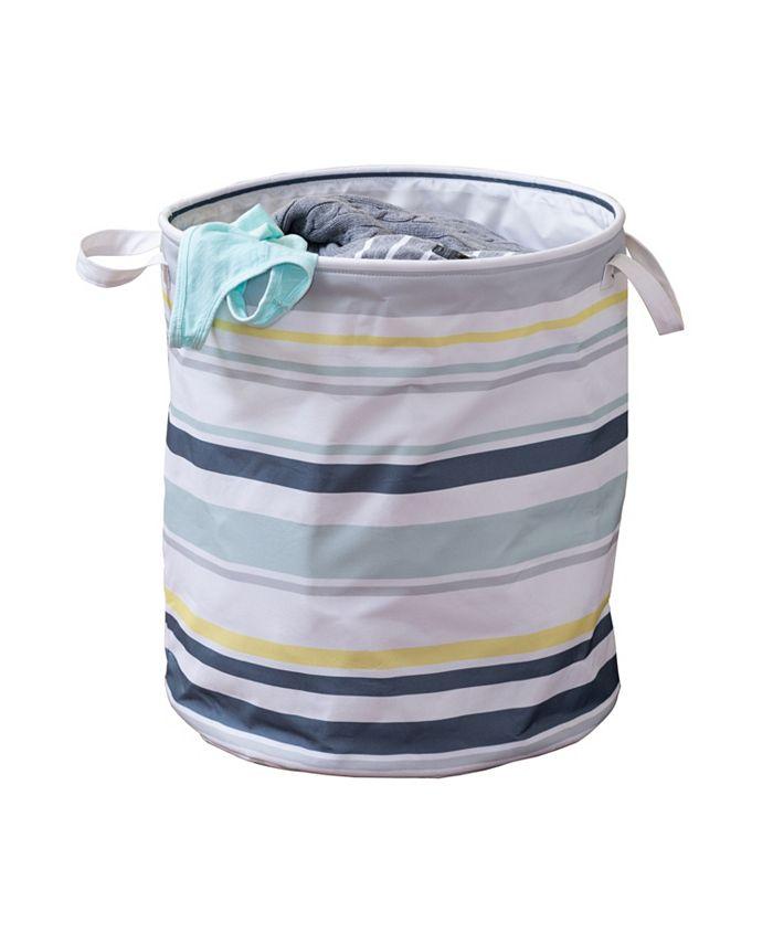 Honey Can Do - Kids Collection Multi-Stripe Hamper
