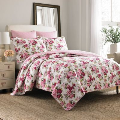 Twin Lidia Pink Quilt Set