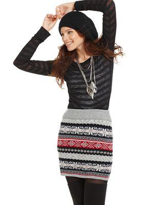 Fair Isle Sweater Mini Skirt - Cardigan Crochet Tutorial