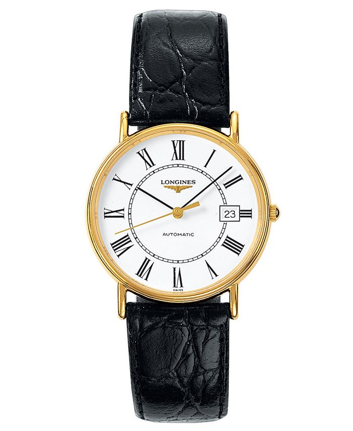 Longines - Watch, Men's Swiss Automatic La Grande Classique Presence Black Strap L47212112