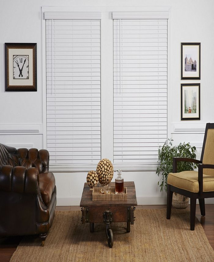 The Cordless Collection - 2 in. Cordless Faux Wood Venetian Blind, 32x64