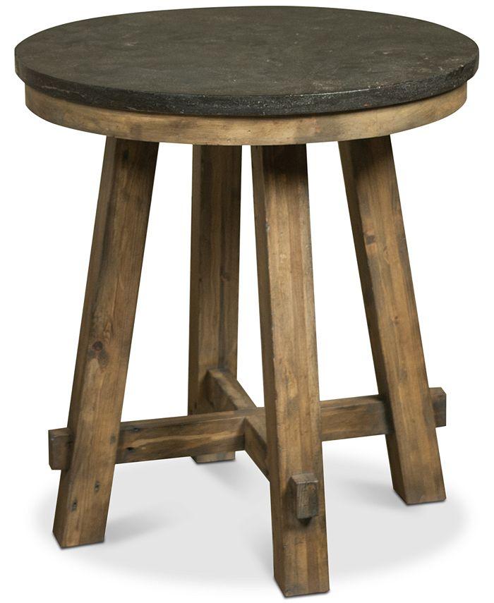 Furniture - Breslin Bluestone Round End Table