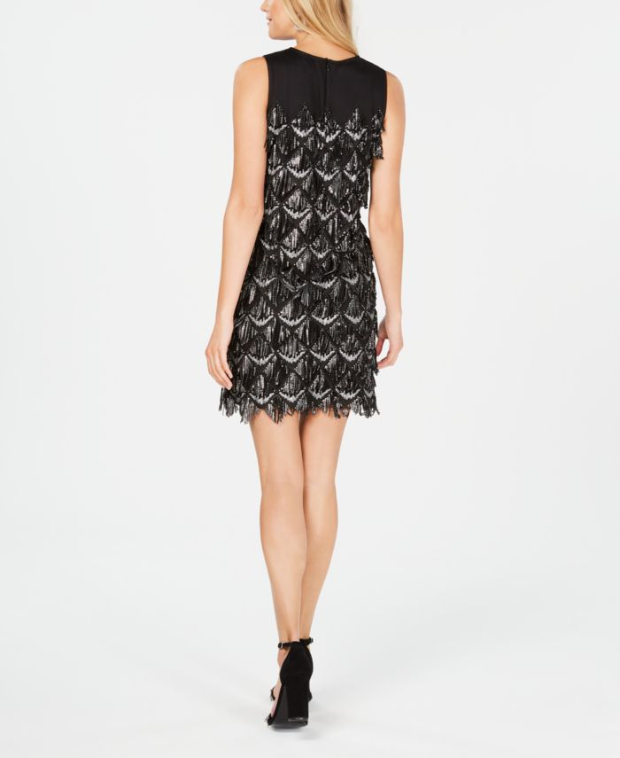 Julia jordan Sleeveless Sequin-Fringe Sheath Dress & Reviews - Dresses - Women - Macy's