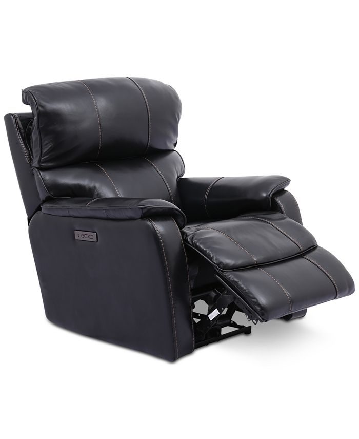 """Furniture - Hatherleigh 34"""" Leather Dual Power Recliner"""