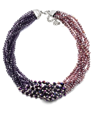 c.A.K.e. by Ali Khan Necklace, Purple Beaded Collar Necklace