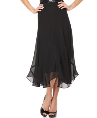 alex evenings skirt flare chiffon skirts macy s