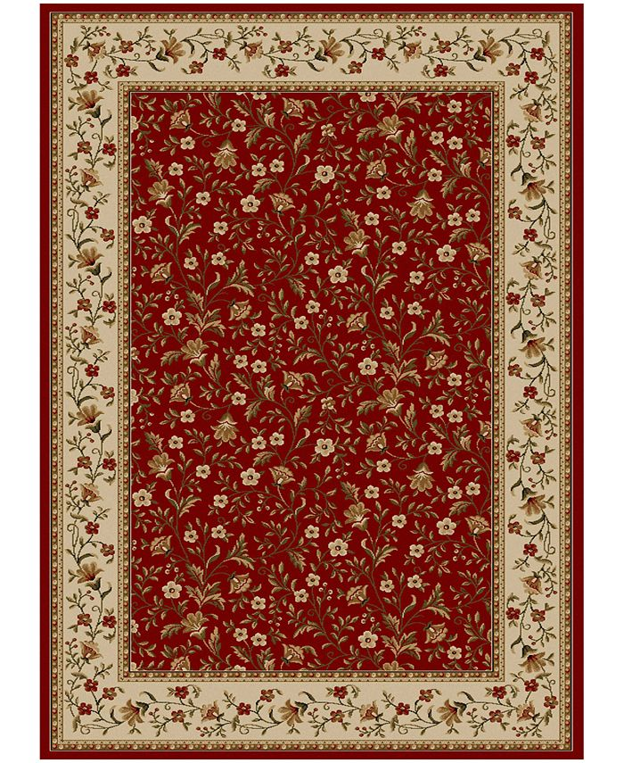 """KM Home - Pesaro Floral Red 7'9"""" x 11' Area Rug"""