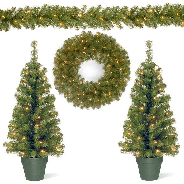 National Tree Company National Tree Promotional Assortment with Battery Operated LED Lights