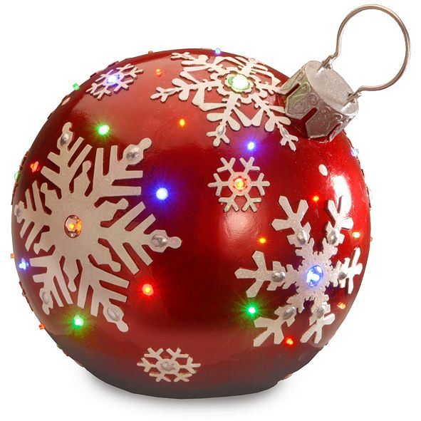 "National Tree Company 18"" Pre-Lit Ball Ornament Decoration"