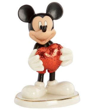Closeout! Lenox Collectible Disney Figurine, Mickey Mouse and Friends Love Struck Mickey