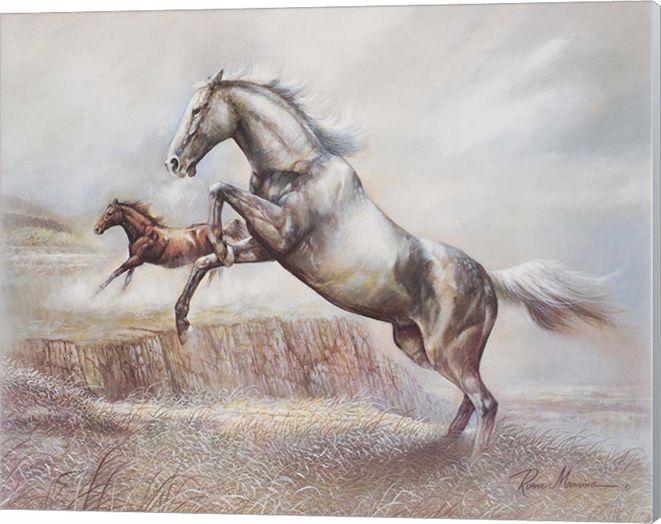 Metaverse Wild Horses Ii By Ruane Manning Canvas Art