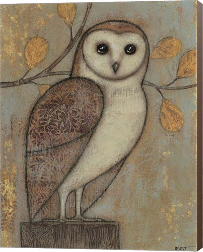 Metaverse Ornate Owl I By Norman Wyatt Jr. Canvas Art
