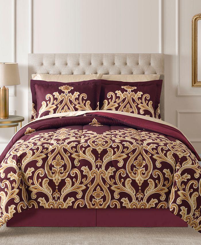 Fairfield Square Collection - Amalanta Reversible 8-Pc. Queen Comforter Set