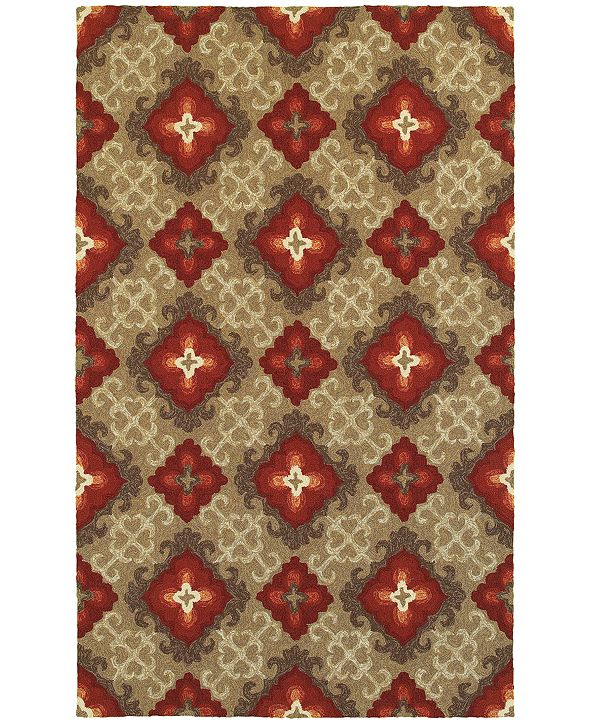 Tommy Bahama Home CLOSEOUT!   Atrium Indoor/Outdoor 51109 Brown/Red 5' x 8' Area Rug
