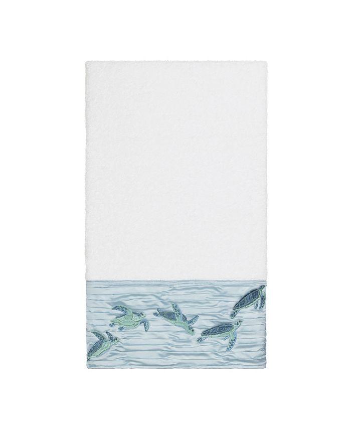 Linum Home - Mia Embroidered Turkish Cotton Bath Towel