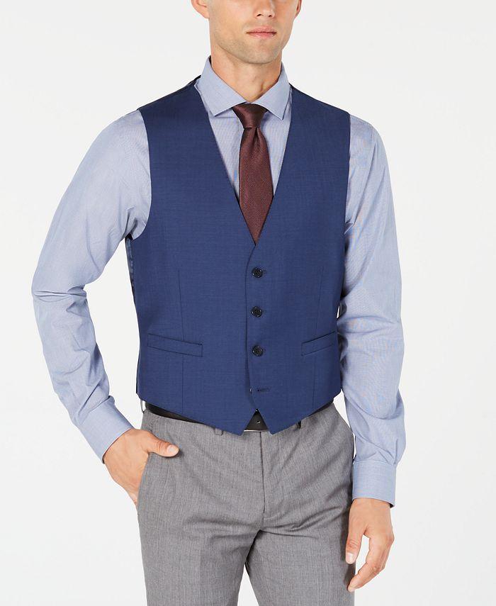 Calvin Klein - Men's Slim-Fit Stretch Solid Suit Vest