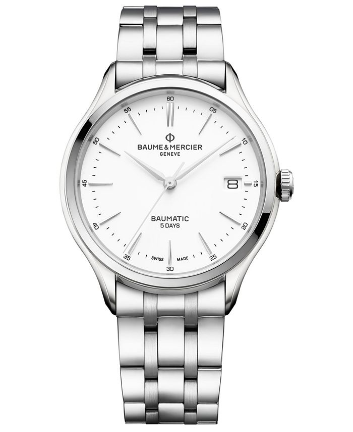 Baume & Mercier - Men's Swiss Automatic Clifton Baumatic Stainless Steel Bracelet Watch 40mm