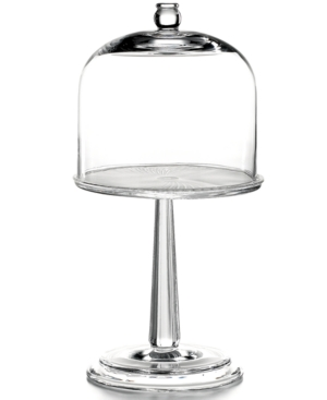 Martha Stewart Collection Serveware, Fluted Cake Stand with Glass Dome