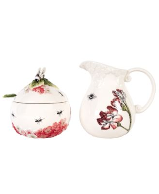 Edie Rose by Rachel Bilson Serveware, Hydrangea Sugar and Creamer Set
