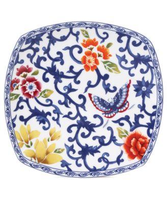 Lauren Ralph Lauren Dinnerware, Mandarin Blue Square Accent Plate