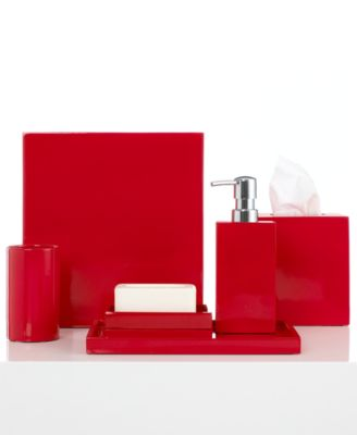 Jonathan Adler Bath Accessories, Lacquer Trash Can