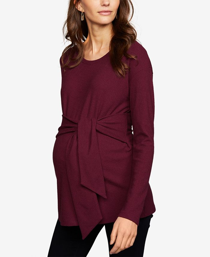 A Pea in the Pod - Maternity Tie-Front Top