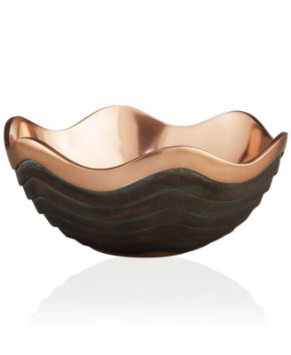 Nambe Serveware, Copper Canyon Serving Bowl