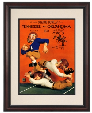Mounted Memories Wall Art, Framed Tennessee vs Oklahoma Football Program Cover 1939