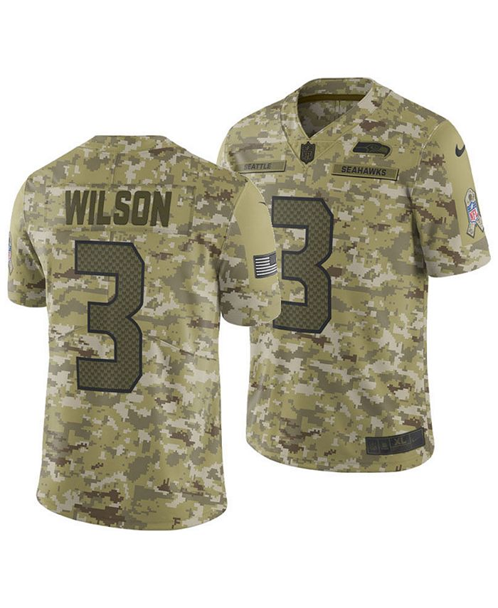 Nike Men's Russell Wilson Seattle Seahawks Salute To Service ...
