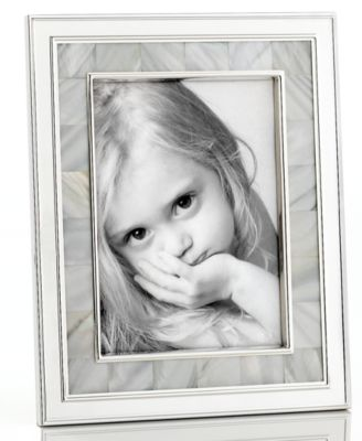 "CLOSEOUT! Martha Stewart Collection Picture Frame, Mother of Pearl 5"" x 7"""
