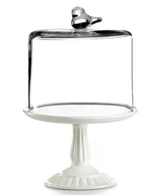 Martha Stewart Collection Serveware, Bird Dome with Cupcake Cake Stand