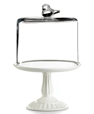 Martha Stewart Collection Serveware, Bird Dome with Cupcake Cake Stand