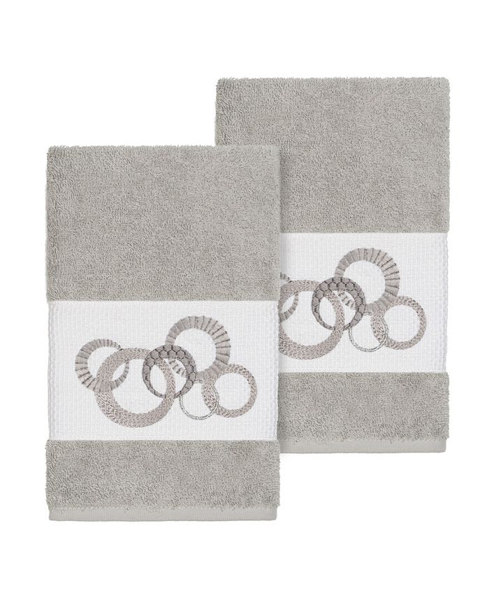 Linum Home - ANNABELLE 2PC Embellished Hand Towel Set
