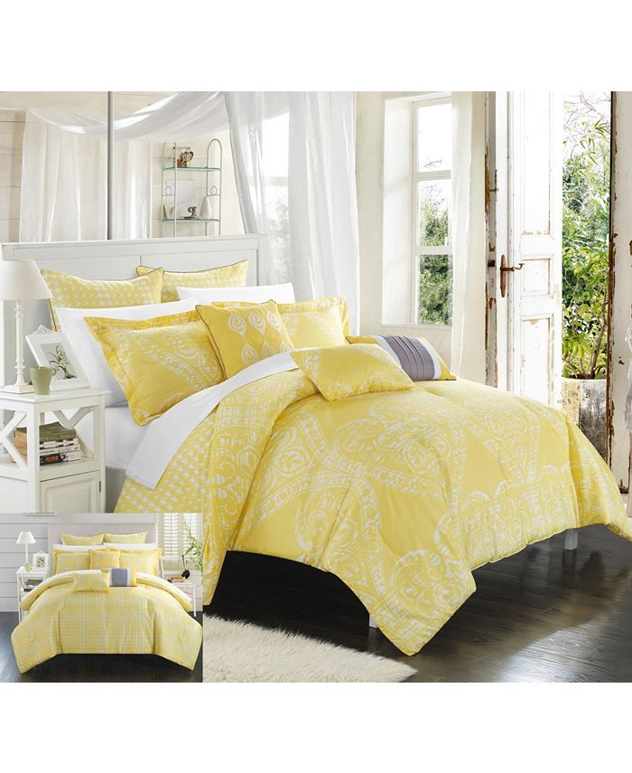 Chic Home - Sicily 8-Pc. Queen Comforter Set