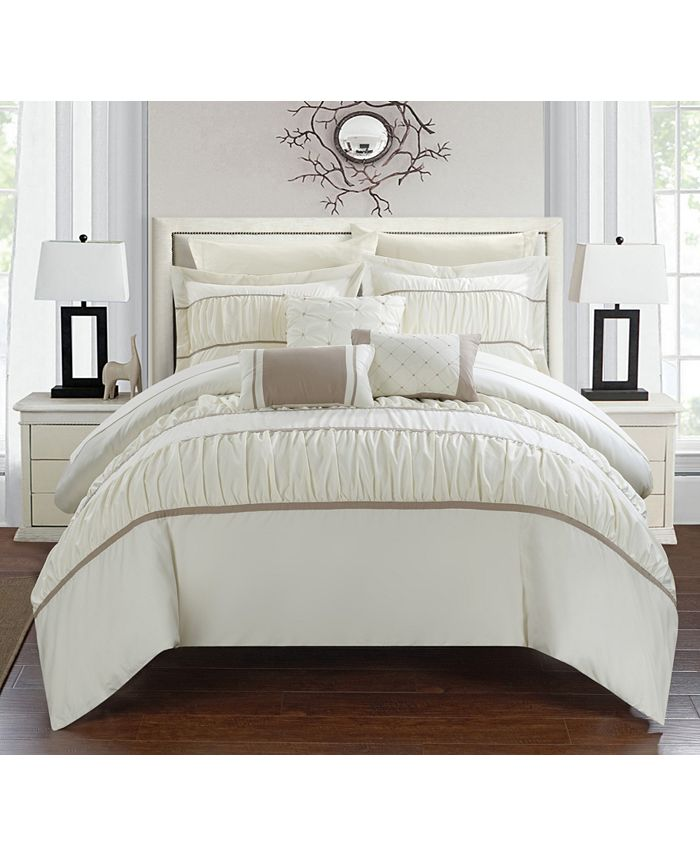 Chic Home - Cheryl 10-Pc. Bed In a Bag Comforter Set