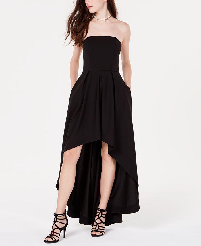 Speechless - Juniors' Strapless High-Low Dress