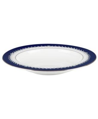 Marchesa by Lenox Dinnerware, Empire Indigo Rim Soup Bowl