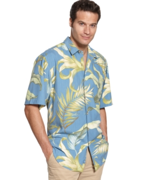 Tommy Bahama Shirt, Short Sleeve Leafing in the Wind Shirt