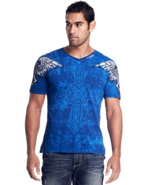 Affliction T Shirt, Gullable Print Graphic Tee