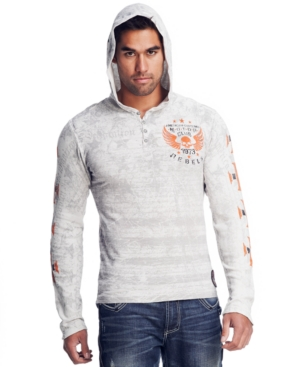 Affliction Hoodie, Motor Hooded Henley