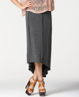 Bar III Skirt, Seamed High-Low Maxi