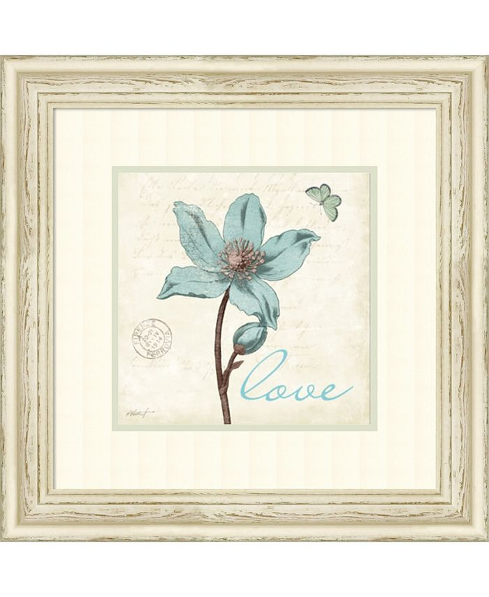 Amanti Art - Touch of Blue IV Love 22x22 Framed Art Print