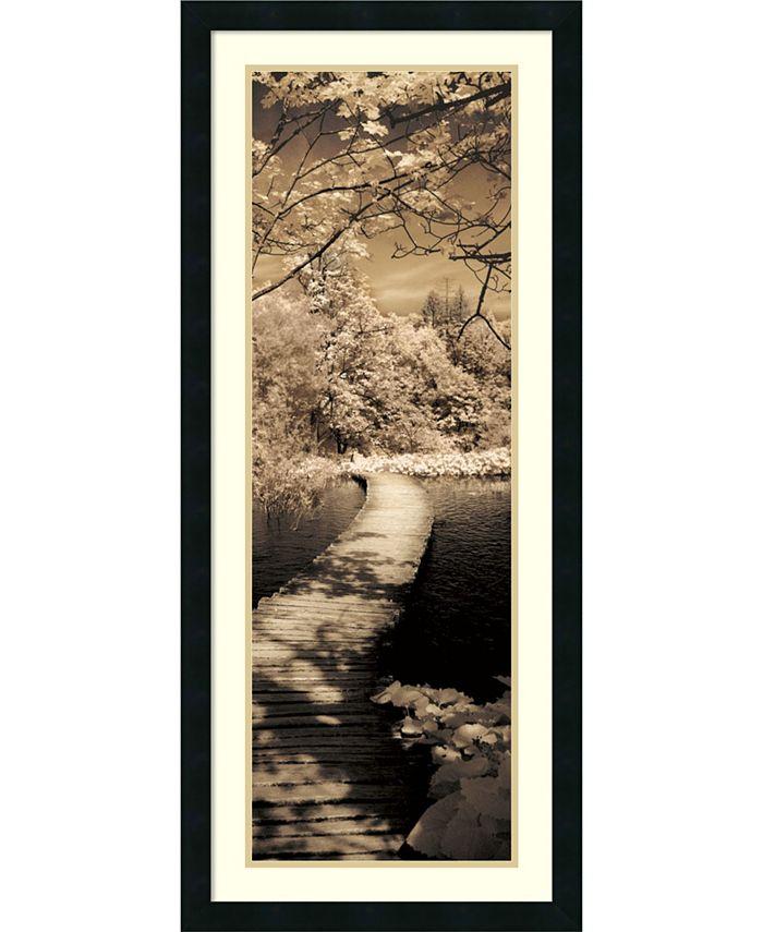 Amanti Art - A Quiet Stroll II 18x42 Framed Art Print