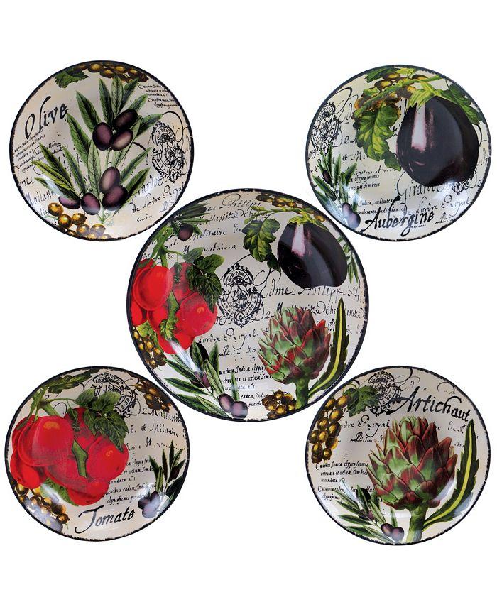 Certified International - Botanical Veggies 5-Pc. Pasta Sets