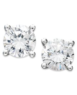 Juliet Diamond Earrings, 14k White Gold Certified Diamond Stud Earrings (3/4 ct. t.w.)